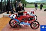 """Amparo Mora, responsable del Champi Women Racing ha recogido el premio al Vehículo más exclusivo, Derbi de 80 cc ex """"Champi"""" Herreros"""